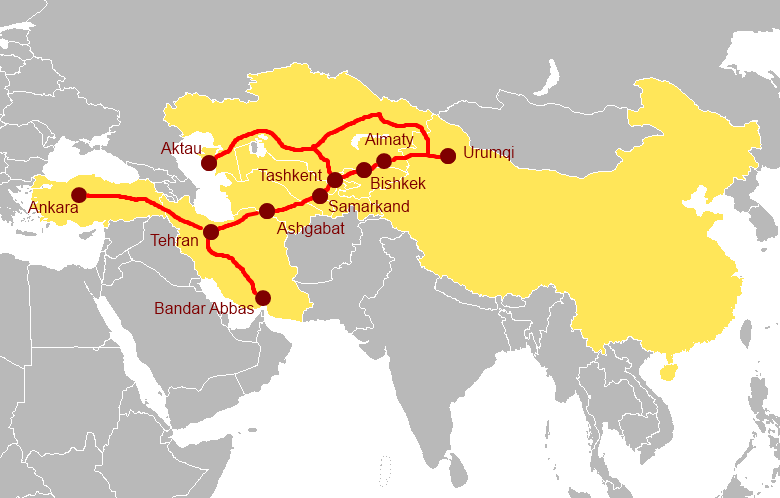 One belt oboreurope 3 the china central asia west asia economic corridor gumiabroncs Choice Image