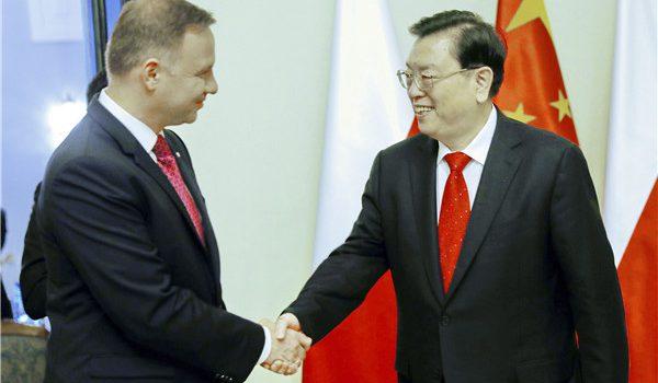 Visite de Zhang Dejiang en Pologne