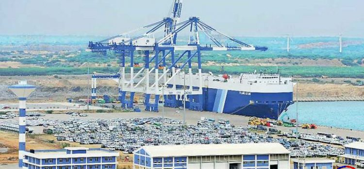"The port of Hambantota operated by ""China Merchants""."