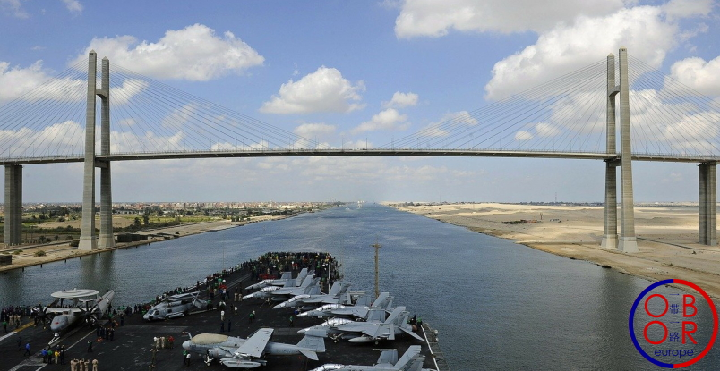 This image has an empty alt attribute; its file name is canal-suez-belt-road-oboreurope.jpg