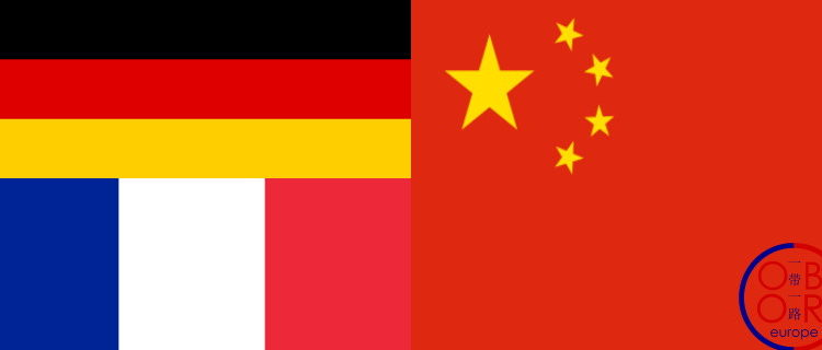 French-Chinese-German video summit, July 2021